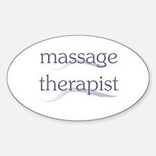 Massage Therapist Sticker (Oval)