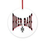 Biker Babe Ornament (Round)