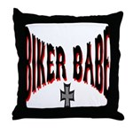 Biker Babe Throw Pillow