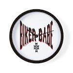 Biker Babe Wall Clock