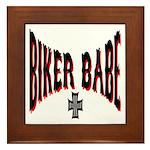 Biker Babe Framed Tile