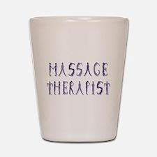 Massage Therapist Shot Glass