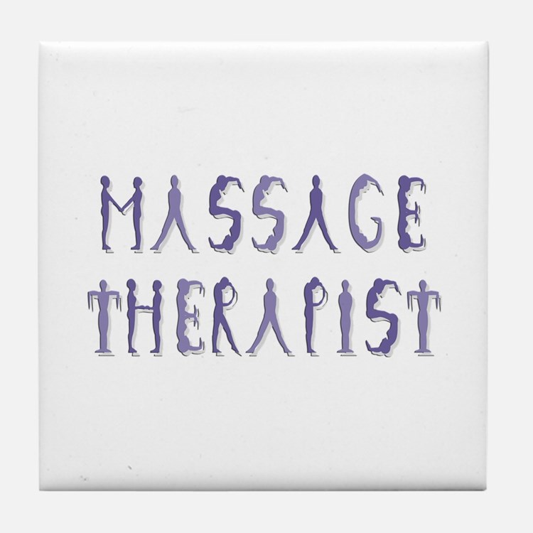 Massage Therapist Tile Coaster