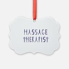 Massage Therapist Ornament