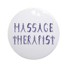Massage Therapist Ornament (Round)