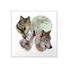 "New Moon Square Sticker 3"" x 3"""