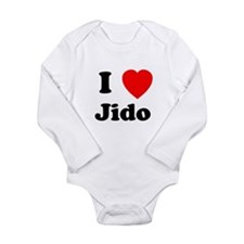 I heart Jido Long Sleeve Infant Bodysuit