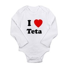 I heart Teta Onesie Romper Suit