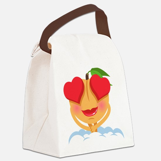 Emoji Heart Eyes Canvas Lunch Bag