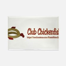 Club Chickenfish Bumper Sticker Rectangle Magnet