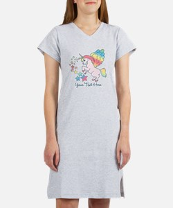 Unicorn Rainbow Star Women's Nightshirt