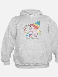 Unicorn Rainbow Star Hoodie