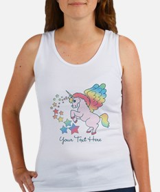 Unicorn Rainbow Star Women's Tank Top