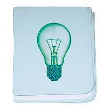 light bulb lamp pixel baby blanket