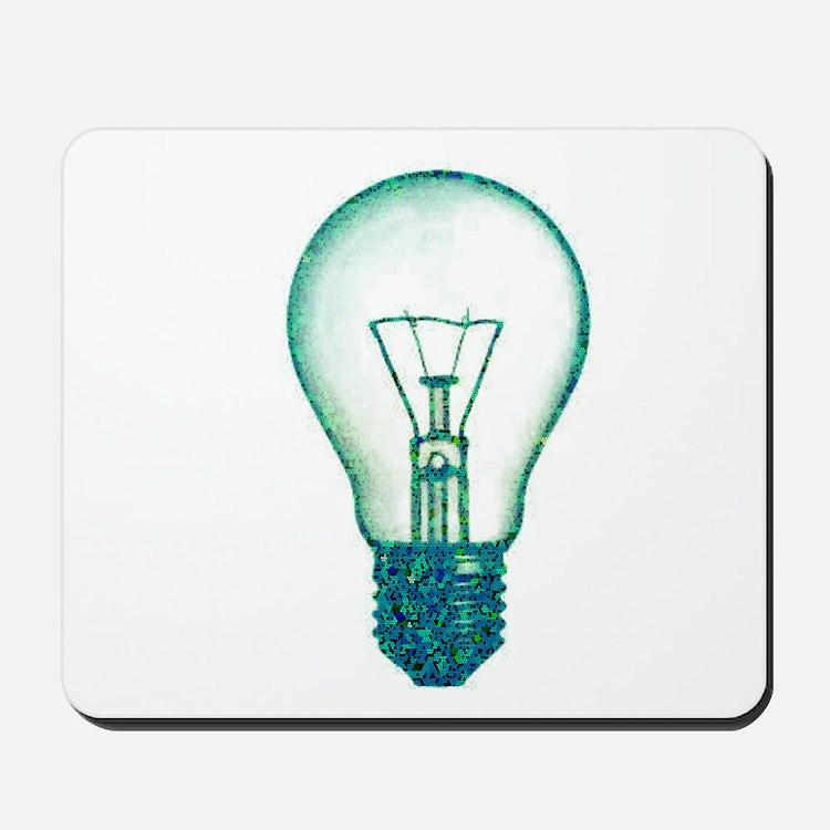 light bulb lamp pixel Mousepad