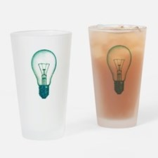 light bulb lamp pixel Drinking Glass
