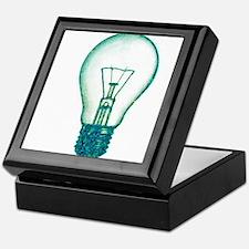 light bulb lamp pixel Keepsake Box