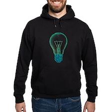 light bulb lamp pixel Hoodie