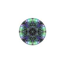 Flower of Life Mandala Mini Button