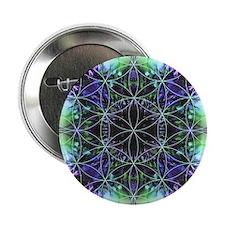 "Flower of Life Mandala 2.25"" Button"