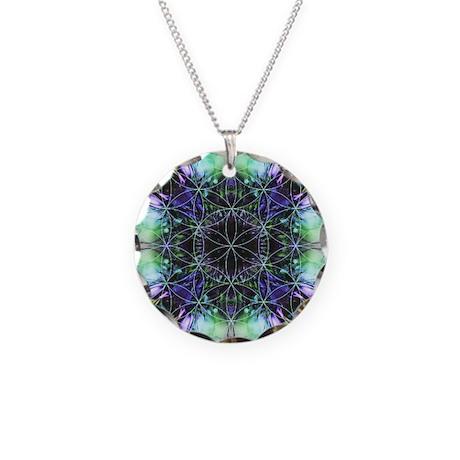 Flower of Life Mandala Necklace Circle Charm