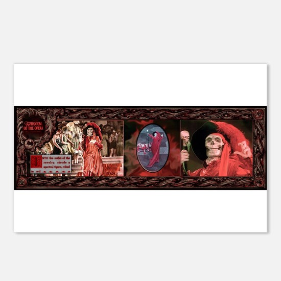 Red Death Classic 1925 Postcards (package Of 8)