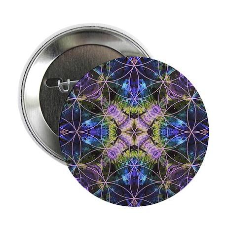 "Flower of Life Mandala 2.25"" Button (10 pack)"