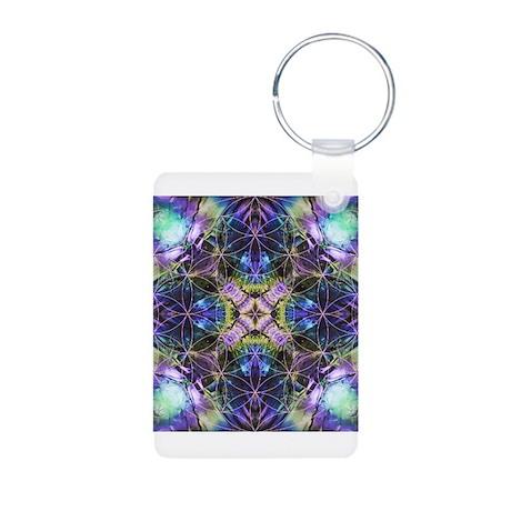 Flower of Life Mandala Aluminum Photo Keychain