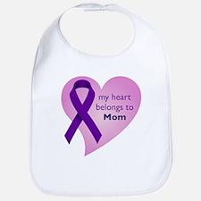 my heart belongs to Mom Bib
