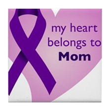 my heart belongs to Mom Tile Coaster