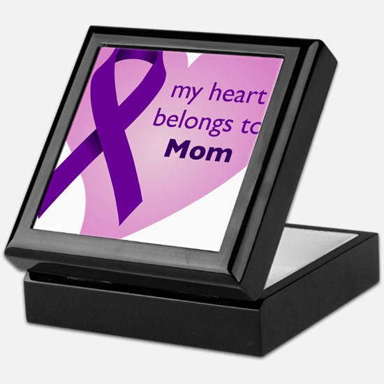 my heart belongs to Mom Keepsake Box