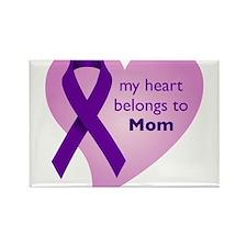 my heart belongs to Mom Rectangle Magnet