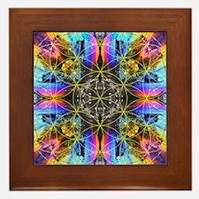 Flower of Life Mandala Framed Tile