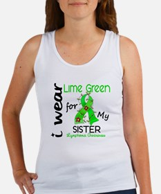 I Wear Lime 43 Lymphoma Women's Tank Top