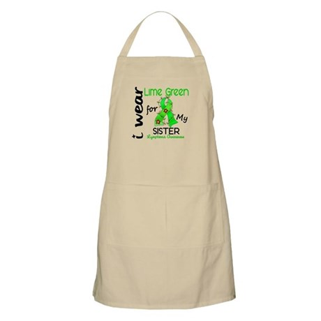 I Wear Lime 43 Lymphoma Apron