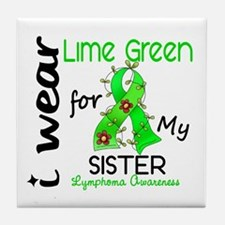 I Wear Lime 43 Lymphoma Tile Coaster
