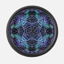 Flower of Life Mandala Large Wall Clock