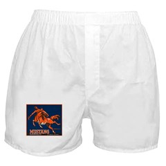 Mustang Fruit Crate Label Boxer Shorts