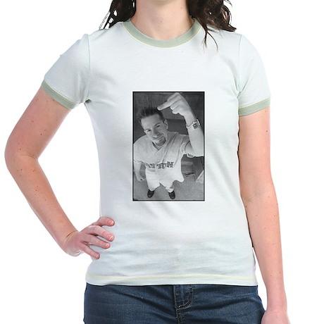 The Finger - Jr. Pink Ringer T-shirt