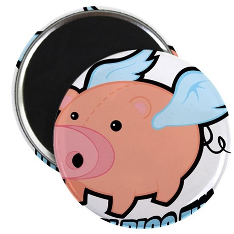"When Pigs Fly 2.25"" Magnet (100 pack)"