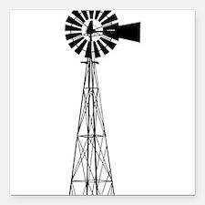 "Windmill Square Car Magnet 3"" x 3"""