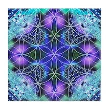Flower of Life Mandala Tile Coaster