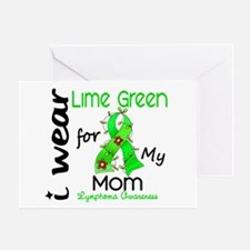 I Wear Lime 43 Lymphoma Greeting Card