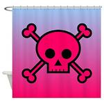 Pink Skull Shower Curtain