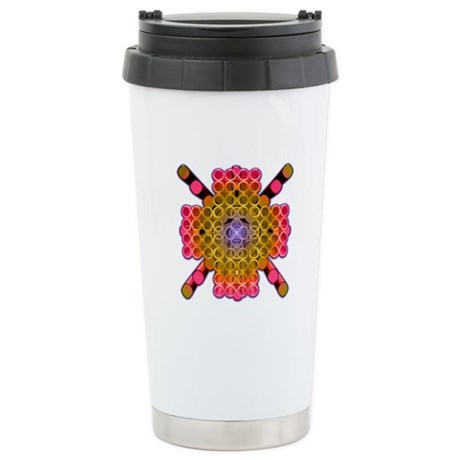 Rings and Rods Stainless Steel Travel Mug