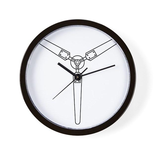 Propeller Wall Clock : Wind propeller wall clock by thebigshopofgreatstuff