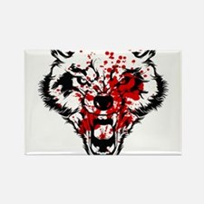 Bloody Wolf Rectangle Magnet