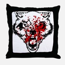 Bloody Wolf Throw Pillow