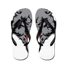 Angry Wolf Flip Flops