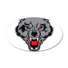 Angry Wolf Wall Decal